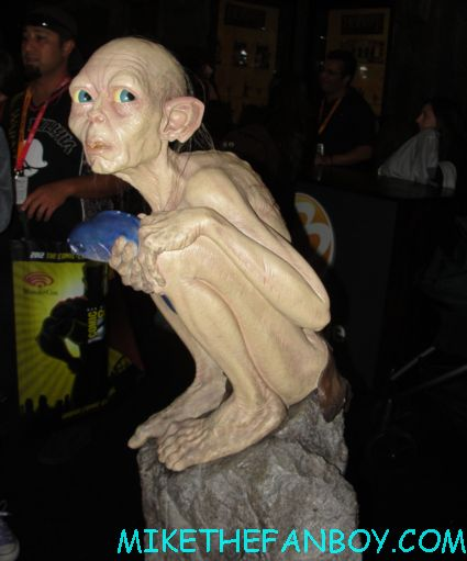 gollum life size the hobbit maquette promo on display at san diego comic con 2012 sdcc 2012