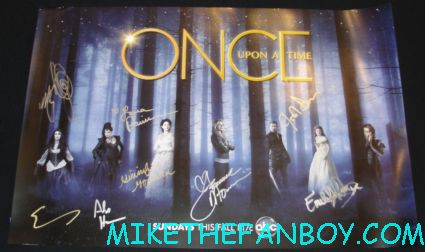 once up on a time rare cast signed autograph promo mini poster comic con san diego sdcc 2012 lana parrilla ginnifer goodwin josh dallas jennifer morrison