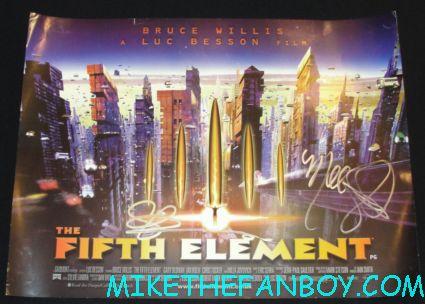 milla jovovich signed autograph fifth element uk quad promo mini movie poster gary oldman hot rare