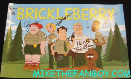 brickleberry signed promo poster brickleberry signing cast autograph at san diego comic con 2012 sdcc rare promo fox booth