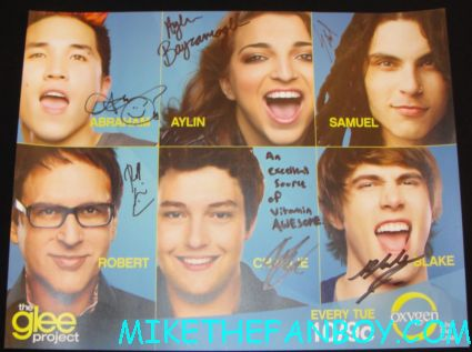 the glee project cast signed autograph mini poster promo the fox booth at san diego comic con 2012 rare the glee project cast signing rare autograph hot