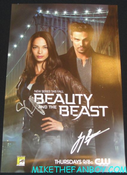 beauty and the beast cast signed autograph mini poster from cbs jay ryan signing autographs