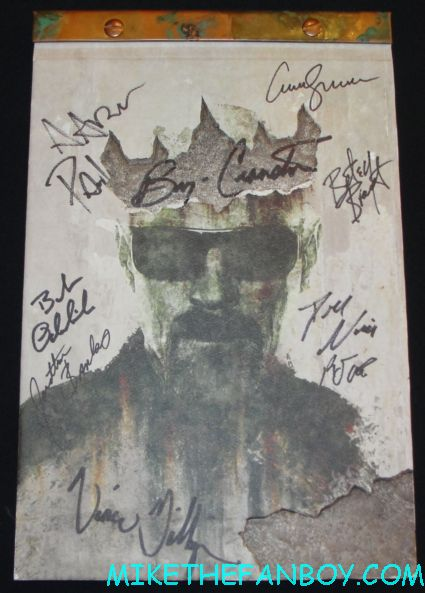 breaking bad rare season 5 press kit presskit signed autograph by cast breaking bad cast signed autograph promo poster sony booth rare the breaking bad cast autograph signing at the san diego comic con 2012 sdcc rare bryan cranston aaron paul hot sexy rare signed