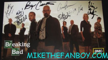 breaking bad cast signed autograph promo poster sony booth rare the breaking bad cast autograph signing at the san diego comic con 2012 sdcc rare bryan cranston aaron paul hot sexy rare signed