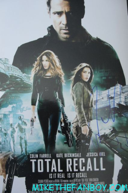 colin farrell signed autograph total recall promo mini movie poster promo hot sexy autograph signed rare