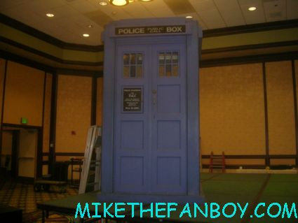 the lifesize tardis at the 23rd annual 23rd annual Gallifrey Convention for Dr. Who fans