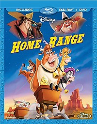 walt disney's home on the range blu ray combo pack dvd cover key art rare press promo still home on the range rare walt disney blu ray promo animated movie still  photo roseanne jennifer tilly judi dench randy quaid