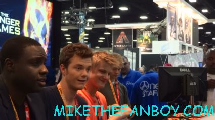 sexy alexander ludwig and the hunger games male tributes signing autographs for fans at san diego comic con 2012 hot