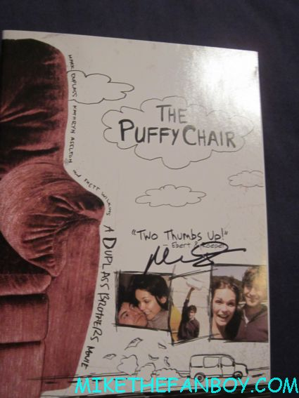 mark duplass signed autograph the puffy chair rare dvd cover hot the league star rare promo