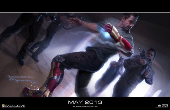 Iron-Man-3-Concept-Art marvel san diego comic con 2012 robert downy jr. extremis rare promo poster hot