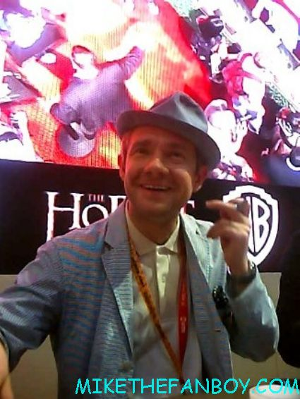 martin freeman at the hobbit cast autograph signing at comic con 2012 sdcc 2012 rare pomo signed autograph hot rare