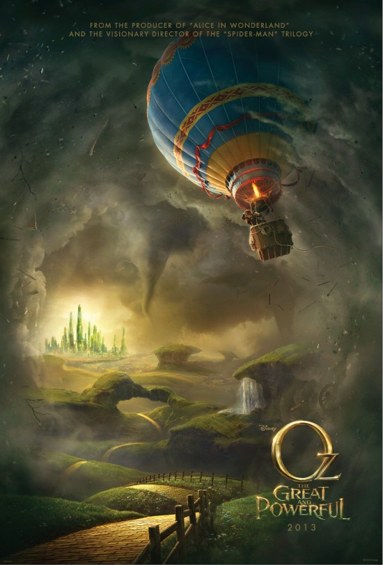 oz the great and powerful rare teaser one sheet movie poster promo james franco disney wizard of oz