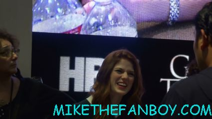 rose leslie at the game of thrones cast autograph signing at the warner bros booth at san diego comic con 2012 rare