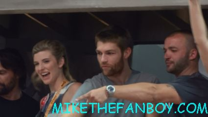 liam mcintyre from spartacus looking sexy at the starz booth at comic con 2012 sdcc 2012 rare promo hot
