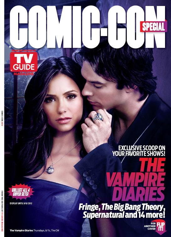 vampire diaries rare tv guide san diego comic con limited edition magazine cover rare promo