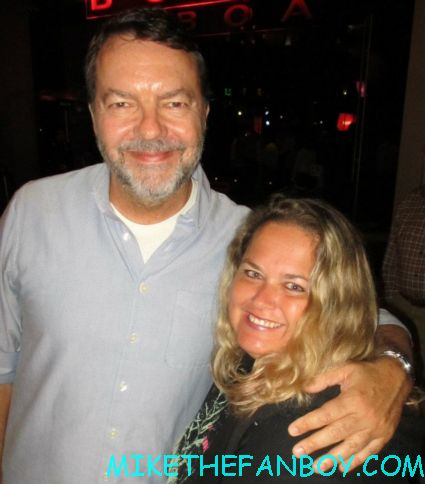 alan ball   posing for a fan photo at the true blood season 5 wrap party hot sexy cougar town star