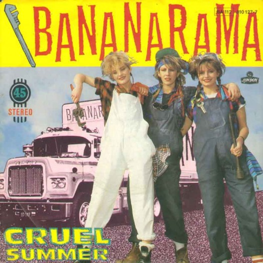 bananarama_cruel_summer rare promo album artwork promo hot sexy girl singers