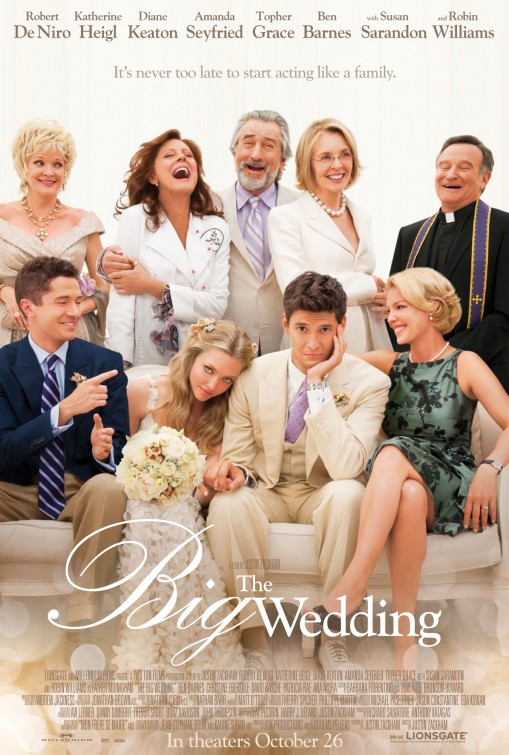 the big wedding movie poster one sheet with susan sarandon robert deniro katherine heigl topher grace ben barnes diane keaton