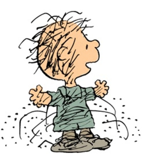 peanuts star pigpen looking all stinky and not showering rare dirty cartoon character