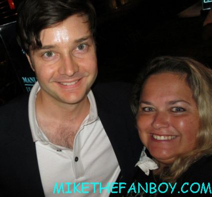 michael mcmillian kristin bauer von straten  posing for a fan photo at the true blood season 5 wrap party hot sexy cougar town star