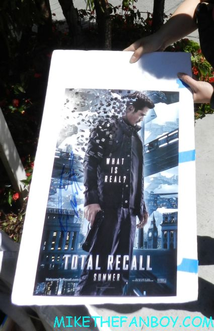 colin farrell signed autograph total recall promo mini movie poster hot sexy alexander fright night star