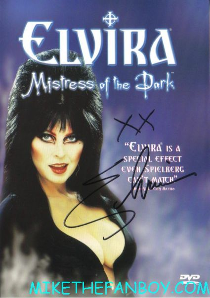 elvira mistress of the dark signed autograph dvd cover rare promo  elvira mistress of the dark signing autographs for fans at golden apple comics in los angeles looking hot and sexy elvira arriving in front of golden apple comics to sign autographs for fans looking hot and sexy elvira mistress of the dark