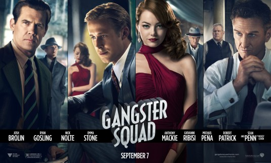 gangster_squad rare promo movie poster promo emma stone ryan gosling josh brolin sean penn hot sexy rare movie poster promo banner