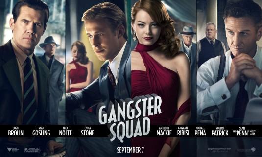 gangster_squad rare promo movie poster promo emma stone ryan gosling josh brolin sean penn hot sexy rare movie poster promo banner