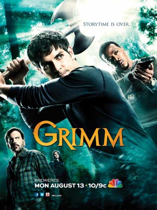 NBC's grimm rare promo poster concept art san diego comic con season 2 promo poster hot sexy rare promo press still