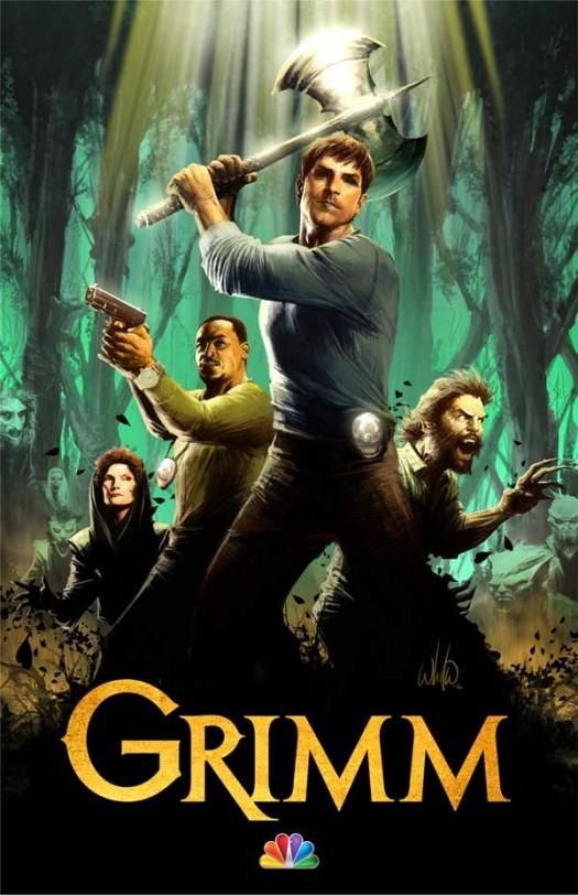 grimartcc NBC's grimm rare promo poster concept art san diego comic con season 2 promo poster hot sexy rare promo press still