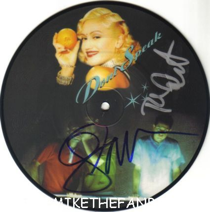 gwen stefani signed no doubt don't speak picture disc autograph import picture disc don't speak settle down rare promo poster sexy