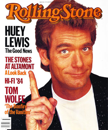huey lewis rare promo rolling stone magazine cover 1980's icon hip to be square