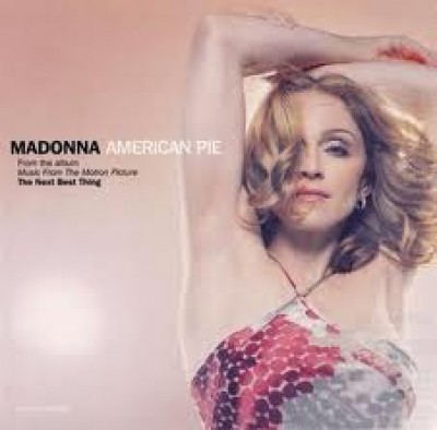 American Pie - Madonna rare promo cd single cover artwork rare hot sexy pop singer
