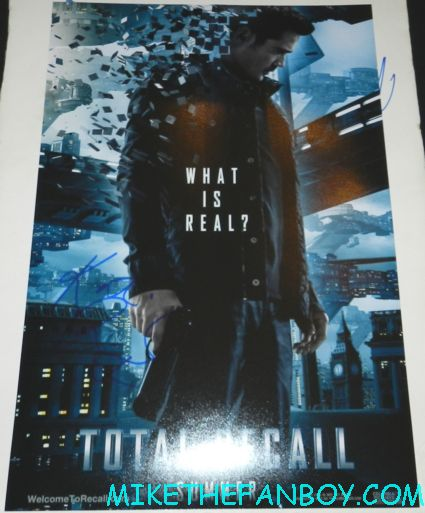 kate beckinsale signed autograph total recall promo mini movie poster one sheet colin farrell hot sexy rare promo poster