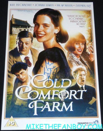 kate beckinsale signed autograph cold comfort farm promo mini movie poster one sheet rare ian mckellan rufus sewell