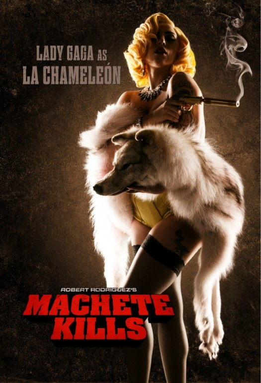 ladygag-machetekills lady gaga machete kills one sheet movie poster promo hot sexy la chameleon hot sexy singer movie poster promo one sheet poster