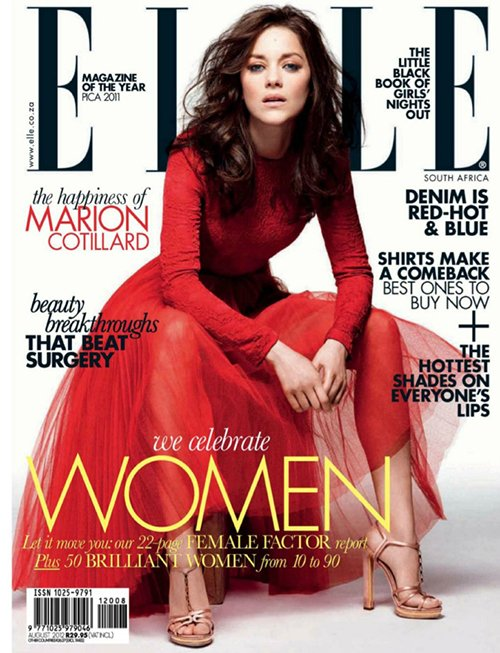 marion-cotillard-elle magazine south africa 2012 rare promo magazine cover hot sexy photo shoot promo the dark knight rises