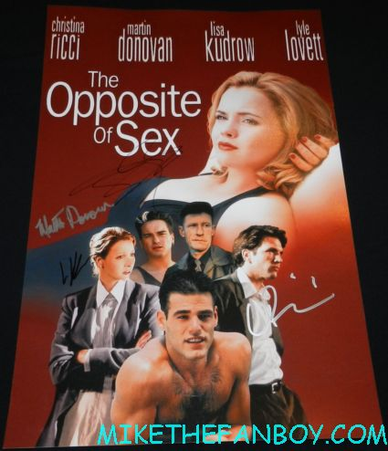 the opposite of sex signed autograph movie poster christina ricci lisa kudrow johnny galecki martin donovan