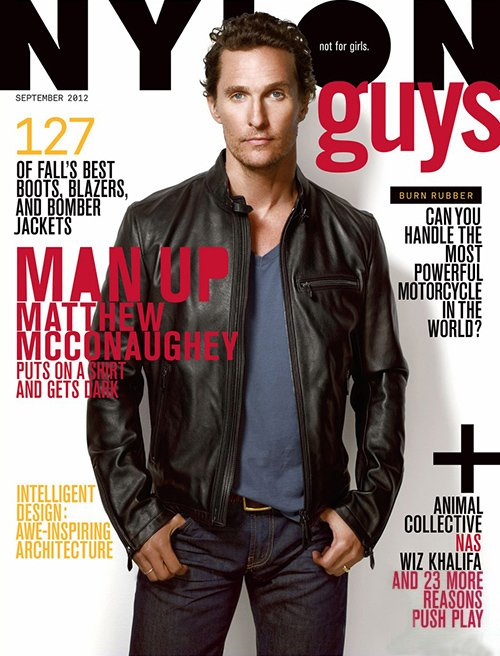 Matthew McConaughey hot sexy nylon guys september 2012 magazine cover sexy photo shoot rare promo magic mike