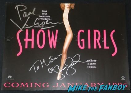 paul verhoven signed autograph showgirls uk promo mini movie poster gina gershon rare promo paul verhoven  signing autographs for fans 009