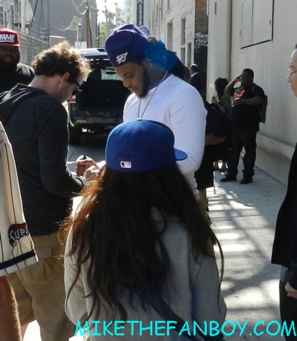 Waka Flocka Flame signing autographs before a live concert appearance rare promo