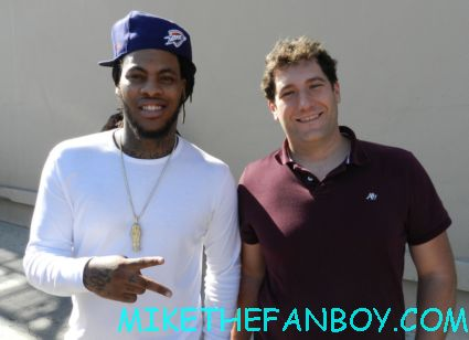 mike the fanboy with Waka Flocka Flame signing autographs before a live concert appearance rare promo