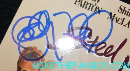 sally field signed autograph signature steel magnolias rare mini poster promo signed laserdisc