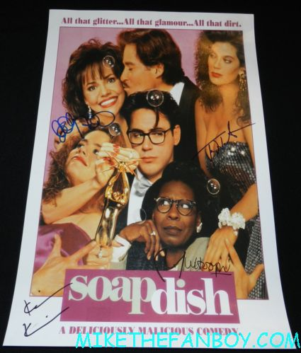 sally field signed autograph soapdish rare mini movie poster robert downey jr whoopi goldberg teri hatcher kevin kline