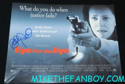 sally field signed autograph eye for an eye rare uk quad mini movie poster promo