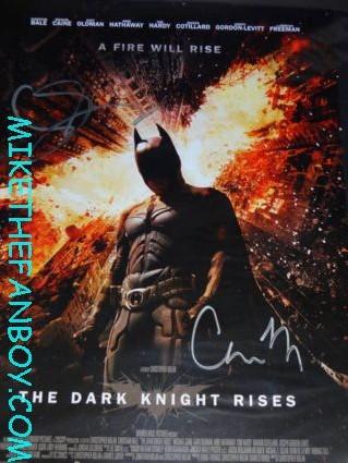 the dark knight rises rare promo mini movie poster signed autograph christopher nolan gary oldman rare promo batman
