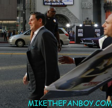 Jonah hill greeting fans and signing autographs at the watch movie premiere in hollywood rare promo little fat fuck