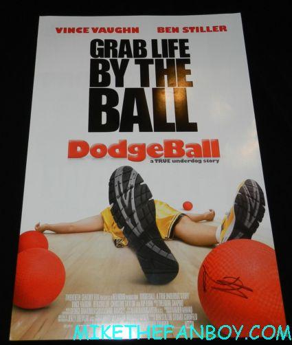 ben stiller signed autograph dodgeball promo mini movie poster hot sexy vince vaughn rare promo