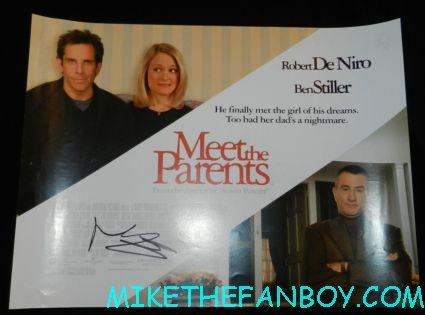 ben stiller signed autograph meet the parents uk quad mini movie poster promo hot sexy rare