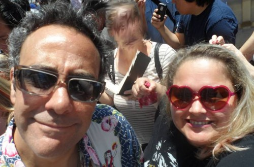 brad garrett and mike the fanboy's pretty in pinky at patricia heaton's walk of fame star ceremony